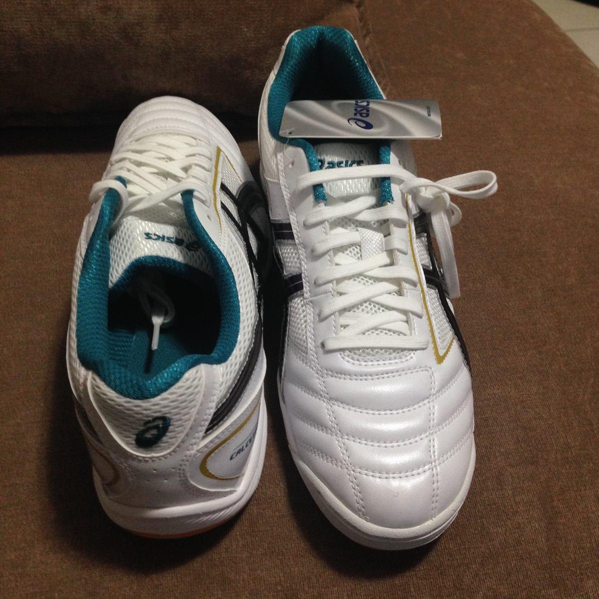 0604fbae0c tenis de salaol asics calcetto branca futebol frete gratis. Carregando zoom.