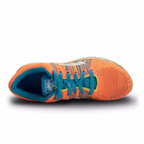 tenis deportivo karosso 7515 naranja azul