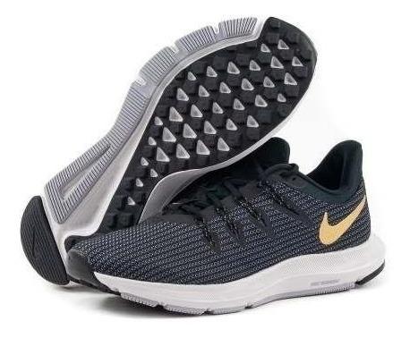 Tenis Running Mujer Nike Quest Negro con Dorado