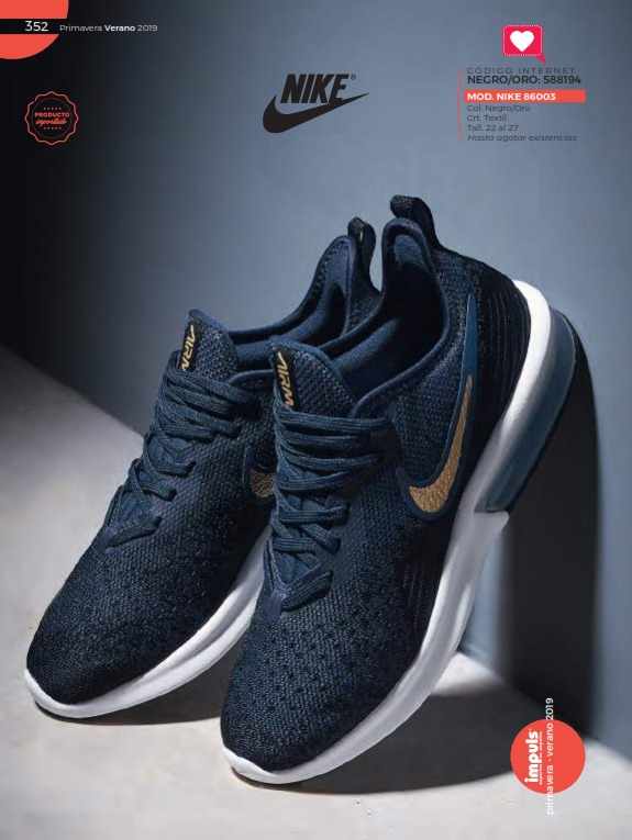 c0629389 Tenis Deportivos Impuls Nike 86003 22 Al 27
