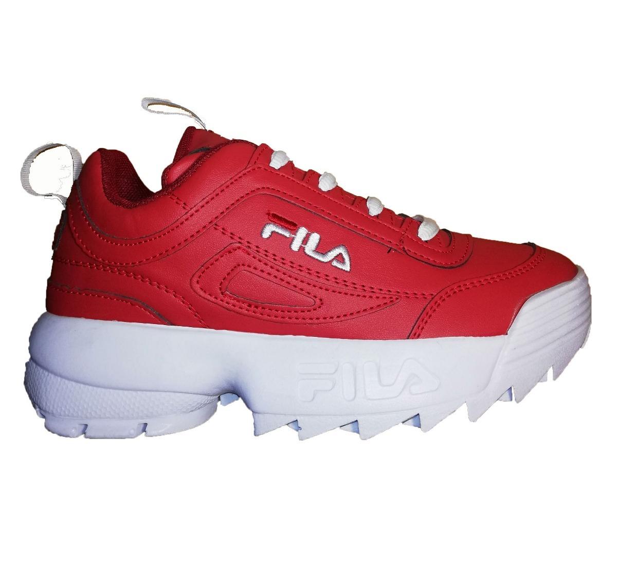 especial para zapato nueva productos super popular Tenis Estilo Fila Clon Deportivo Rojo Envio Gratis