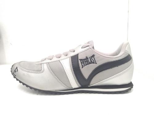 tenis everlast plata gris negro