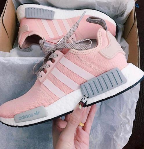 adidas nmd feminino rosa e cinza
