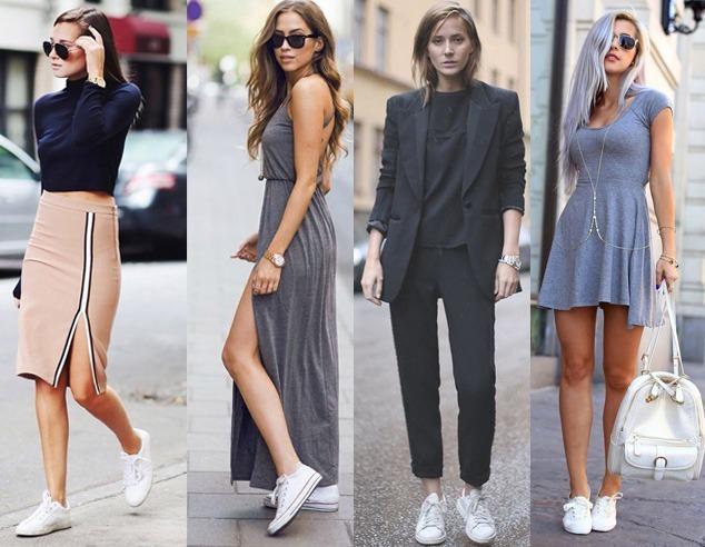 Tenis Feminino Branco Couro Combina Vestidos E Vários Looks