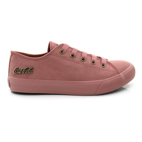 Tênis Feminino Casual Coca Cola Shoes Cc1447 Basket Original