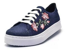 55964c77756ed Tenis Feminino Bordado - Sapatos com o Melhores Preços no Mercado ...