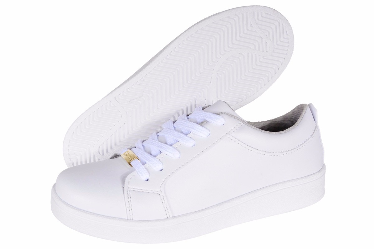 52aaf712f6 tenis feminino casual moda branco prata dourado passeio luxo. Carregando  zoom.