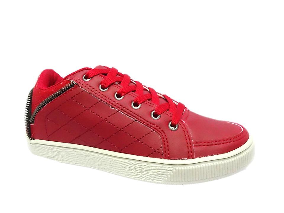 0b78cf15f tenis feminino casual sapatenis vermelho dello 003954. Carregando zoom.