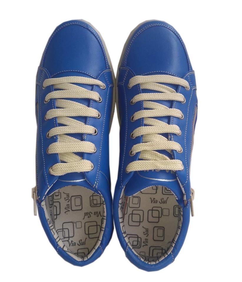 03ca49aa87b tenis feminino couro legítimo blue promoção mais barato. Carregando zoom.