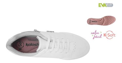 tenis feminino kolosh anabela branco enfermagem confort