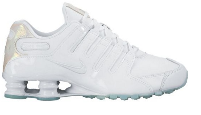 6a3a78bedab Tenis Feminino Nike Shox Nz Branco Prata 100% Original - R  649
