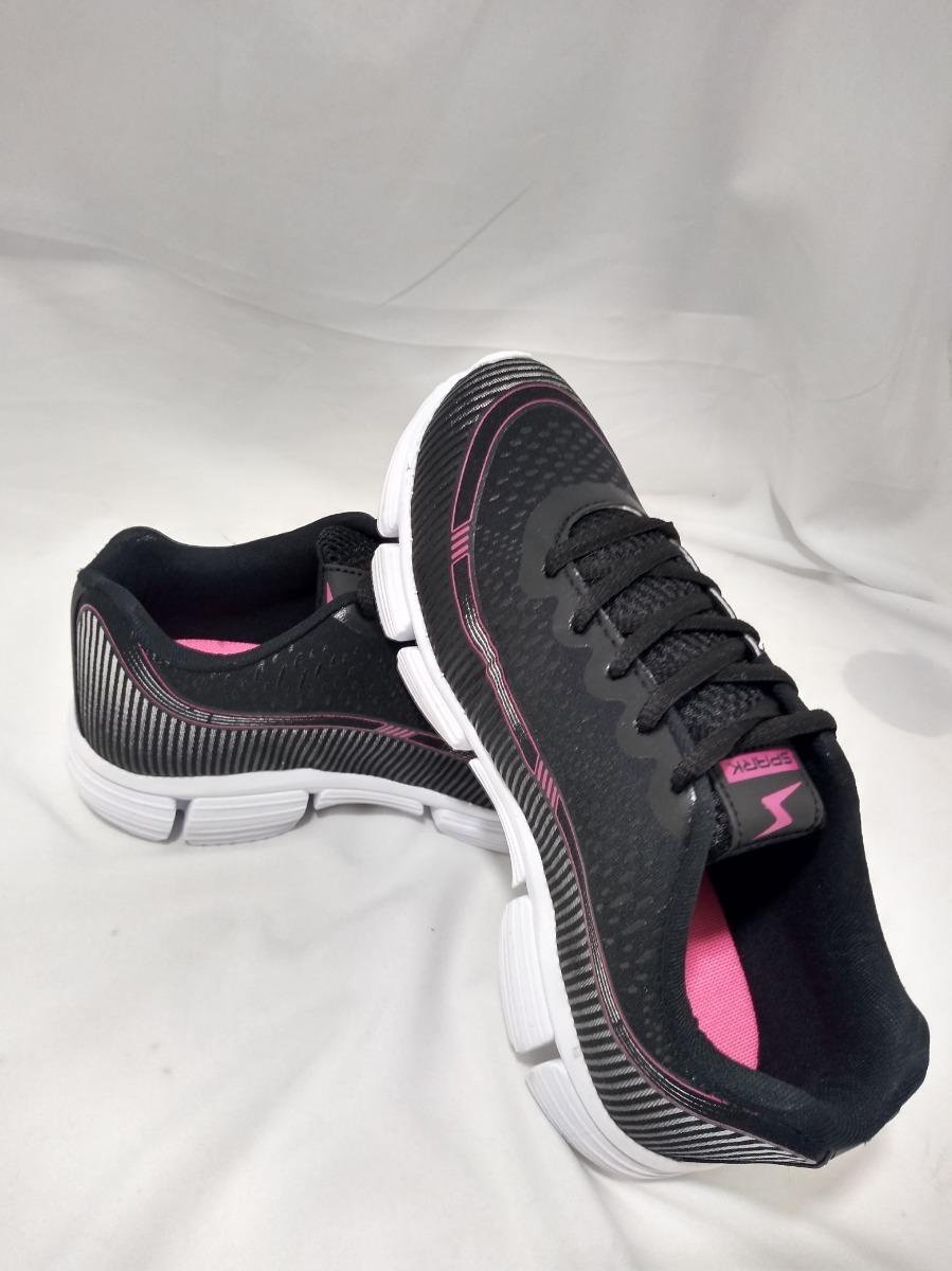 4bcc0708283 tenis feminino numeros especiais spark preto pink s863. Carregando zoom.