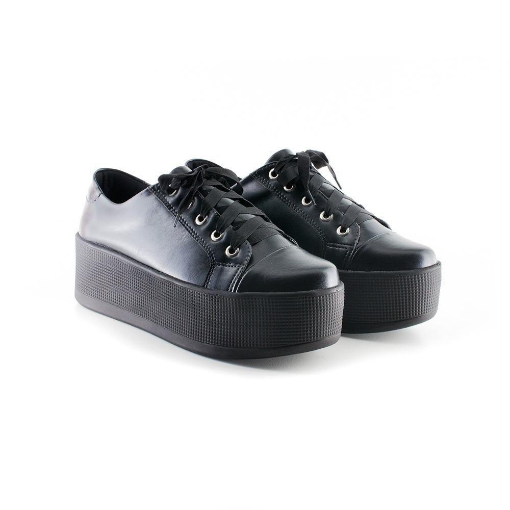9c683dc957f tenis feminino sola alta preto frida shoes. Carregando zoom.