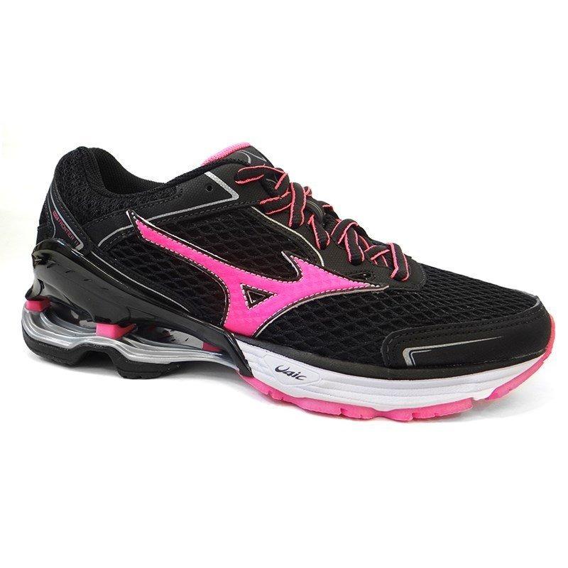 2e27a12fc tenis feminino wave frontier 11 p - mizuno (03) - preto rosa. Carregando  zoom.