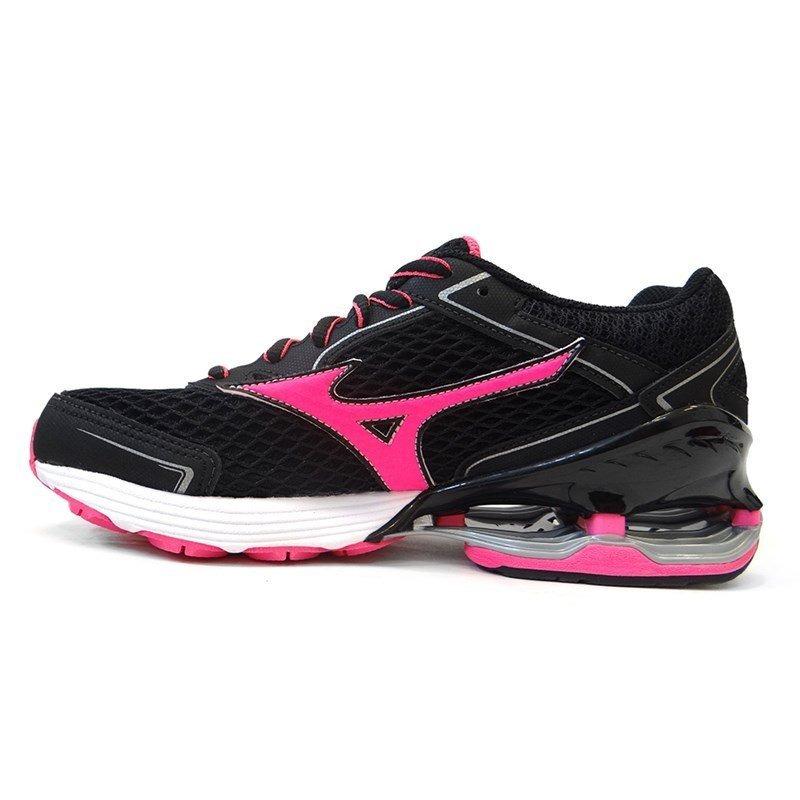 cc182fd0a7 tenis feminino wave frontier 11 p - mizuno (03) - preto/rosa. Carregando  zoom.