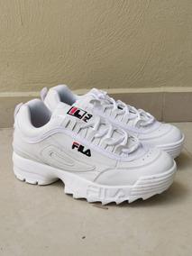 variedad de diseños y colores venta caliente real Página web oficial Tenis Fila Blancos Mujer Clon - Ropa, Bolsas y Calzado de ...