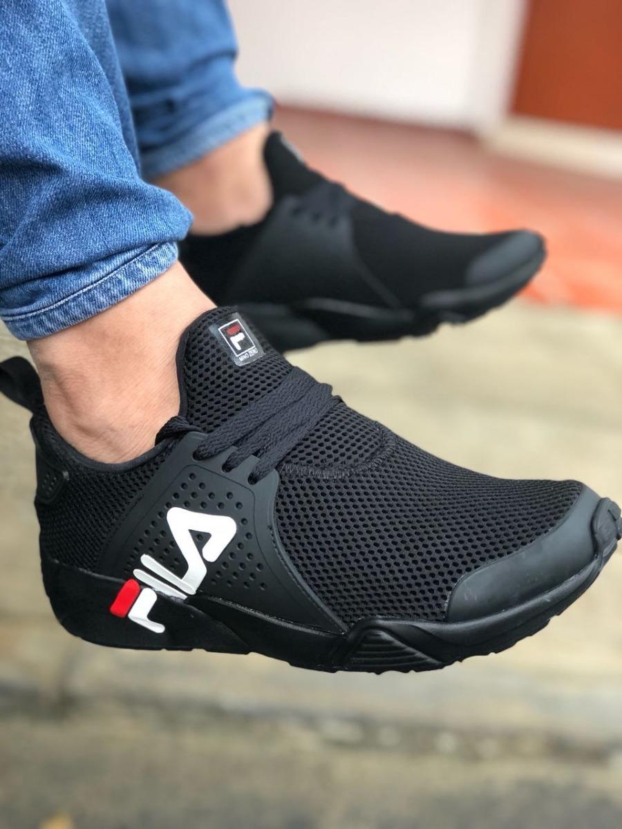 Comprar > zapatos fila hombre negro usado > Limite los ...