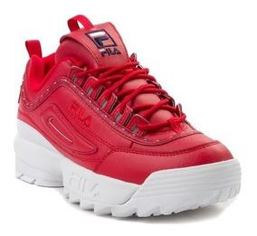 Tenis Fila Mod. 452035 Disruptor 2 Premium Mujer Rojos / J