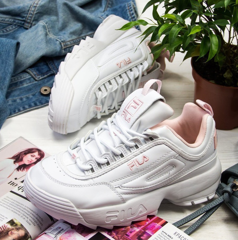 ede7b5a957d tenis zapatillas fila disruptor low blanca rosada mujer · tenis fila mujer.  Cargando zoom.
