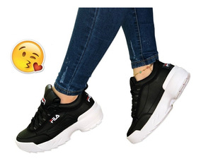 Mujer Pisahuevos Bob Zapatos Tenis Para Esponja Fila En wZukOPTiX