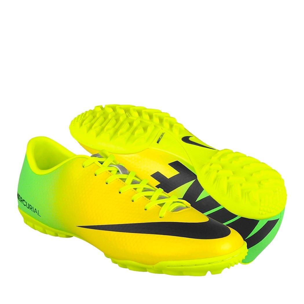 f57a16f2 tenis fútbol nike para hombre amarillo con negro 555615703. Cargando zoom.