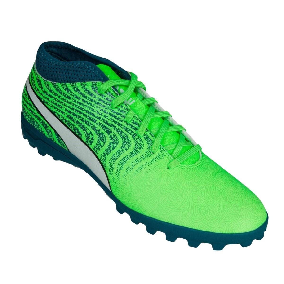 Tenis Futbol Rápido Puma One 18.4 Tt Deep Lagoon -   999.00 en ... 6ac9268a0a4ca