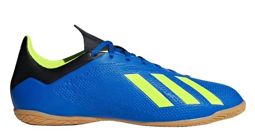 9525a4949e0 Tenis Futsal adidas X Tango 18.4 In - Azul amarelo Neon - R  219