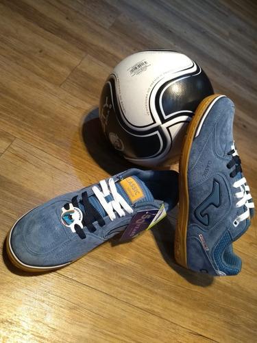 Tenis Futsal Joma Classic Nobuck In Masculina Azul - R  269 25d9d84b25670