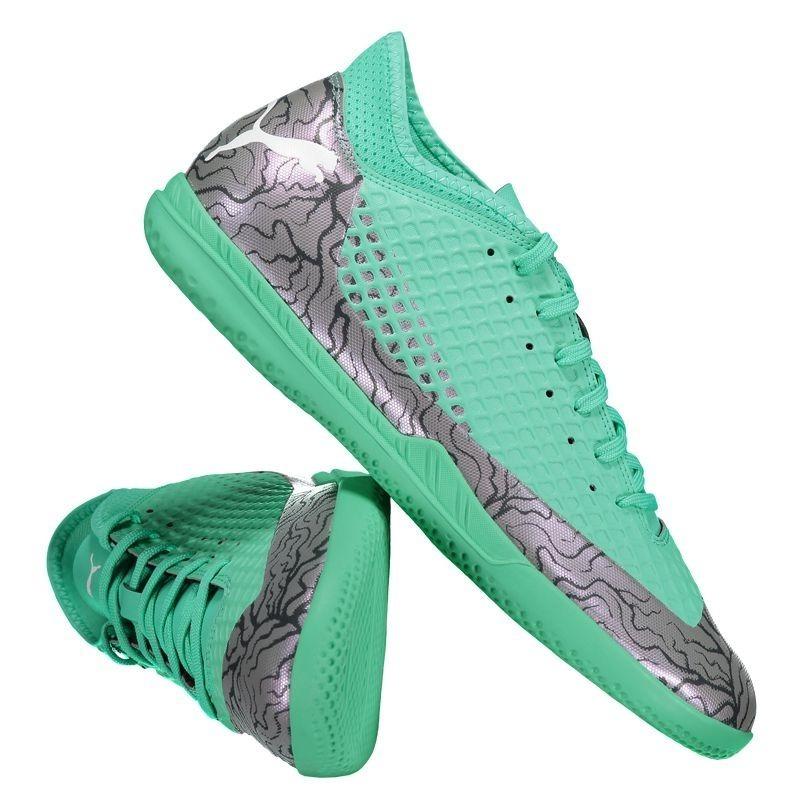 1a5701fdbe tenis futsal puma future 2.4 it verde botinha. Carregando zoom.
