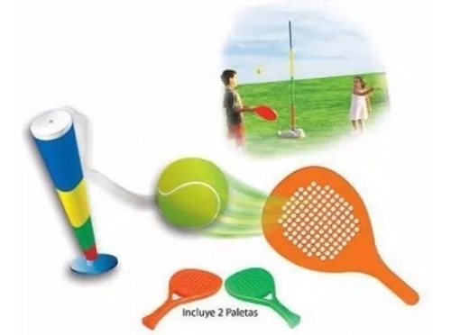 tenis giratorio tenisol juego playa paleta pelota juegosol