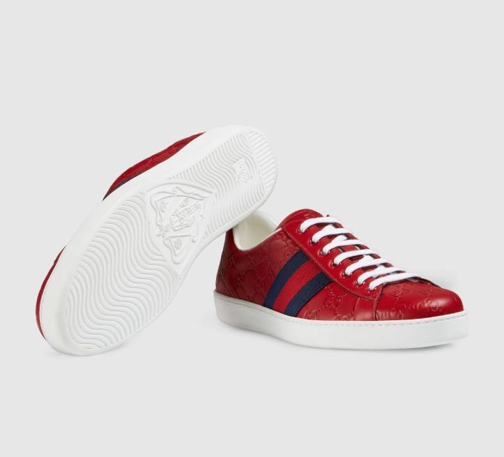 8adb6281d Tenis Gucci Ace Rojos - $ 5,000.00 en Mercado Libre
