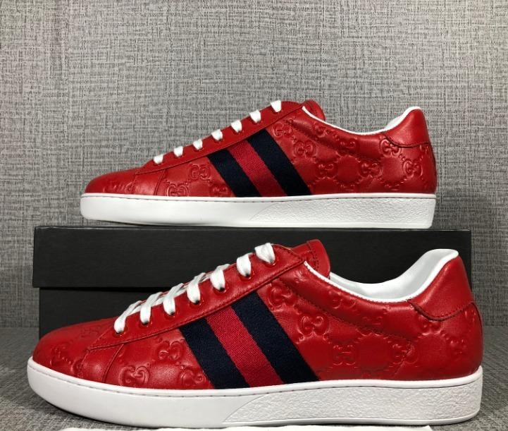b8c0d64ca48c5 Tenis Gucci Ace Rojos Para Hombre -   6