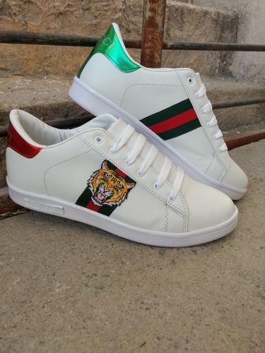 559a23e90e6b0 Tenis Gucci Para Caballero De Tigre Blancos -   650.00 en Mercado Libre