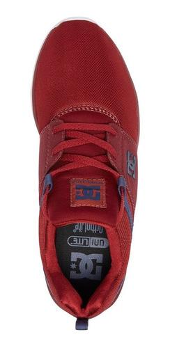 tenis hombre casual heathrow m shoe adys700071 rojo dc shoes