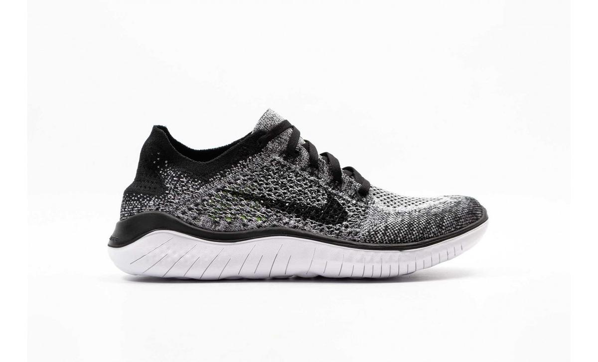 Zapatillas De Deporte Nike Free Run Flyknit Blanc Noir Mujer :
