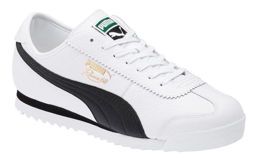 Tenis Hombre Puma Roma '68 Vintage Blanco Negro 830615 Nuevo