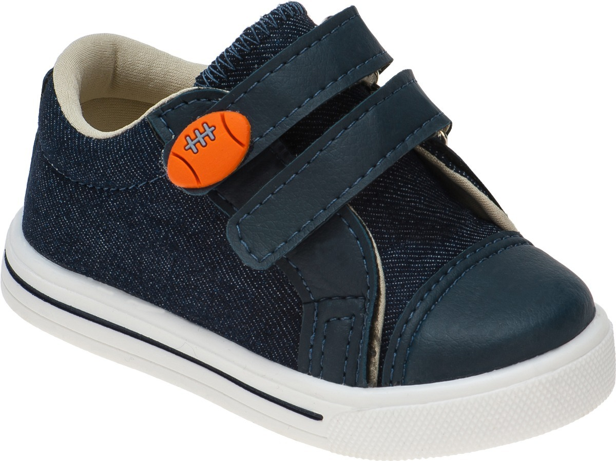 366f5fcdd Tenis Infantil Menino Bebe Velcro Masculino Baby Casual Azul - R$ 36 ...