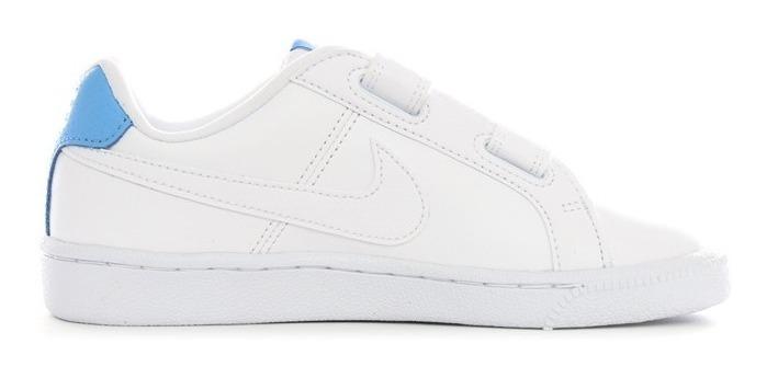 nike court royale blanco azul