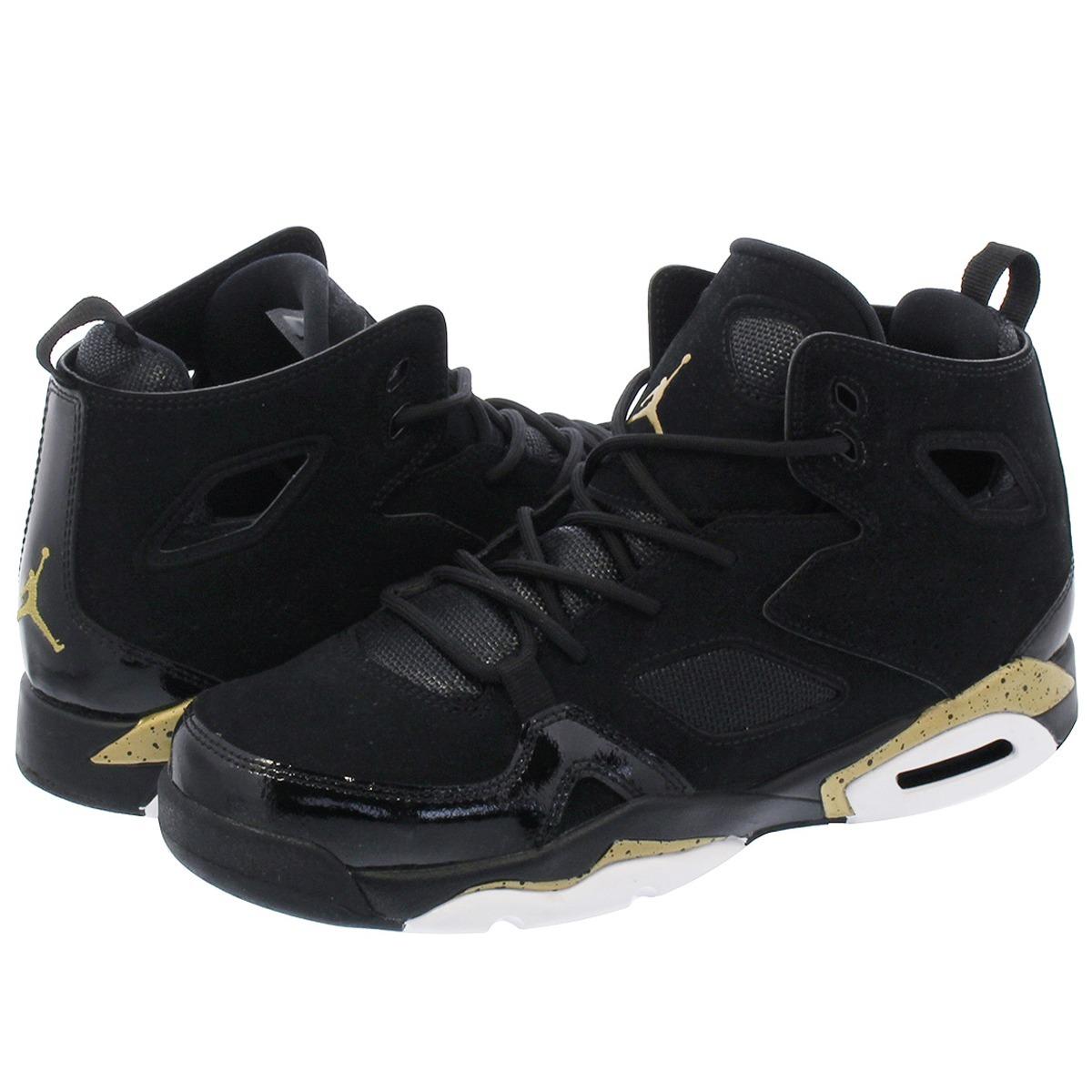 lowest price 8b695 c5086 Tenis Jordan Flight Club 91 Negro Dorado Bota Basket Retro