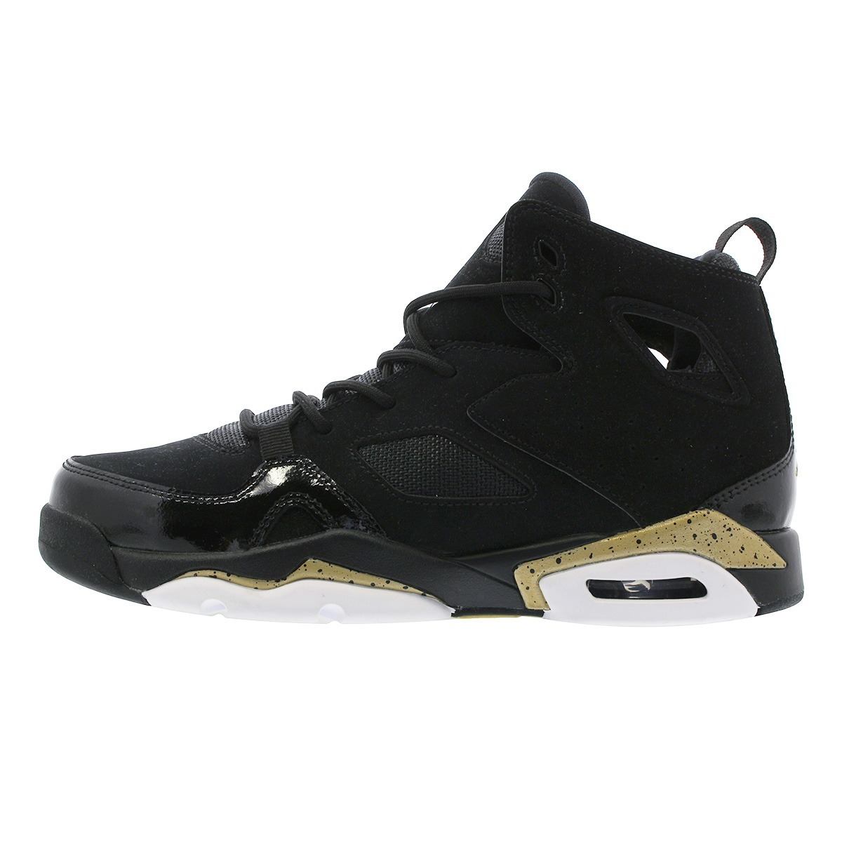 lowest price 669c3 b58fe Tenis Jordan Flight Club 91 Negro Dorado Bota Basket Retro