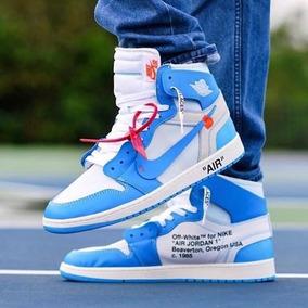 separation shoes 4bf5c 6292e Tenis Jordan Retro 1 Off-white Blue