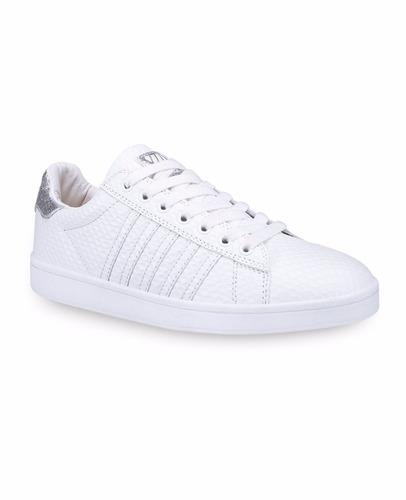 tenis k8f052 blanco plata, k8f052 rosa escolar k swiss piel