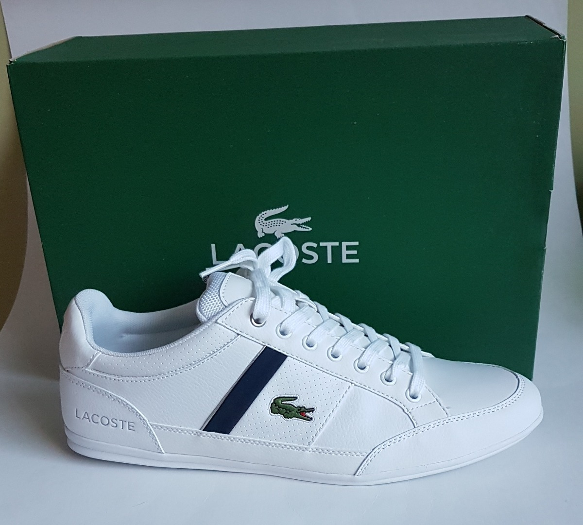 Tenis Lacoste Chaymon Leather Branco T39 - R  590,00 em Mercado Livre da2e5766bd