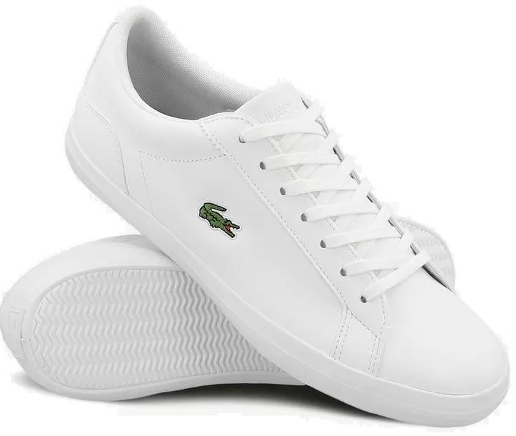 890afd527e8b6 Tenis Lacoste Lerond Bl 1 Blancos Originales Nuevos Casuales ...