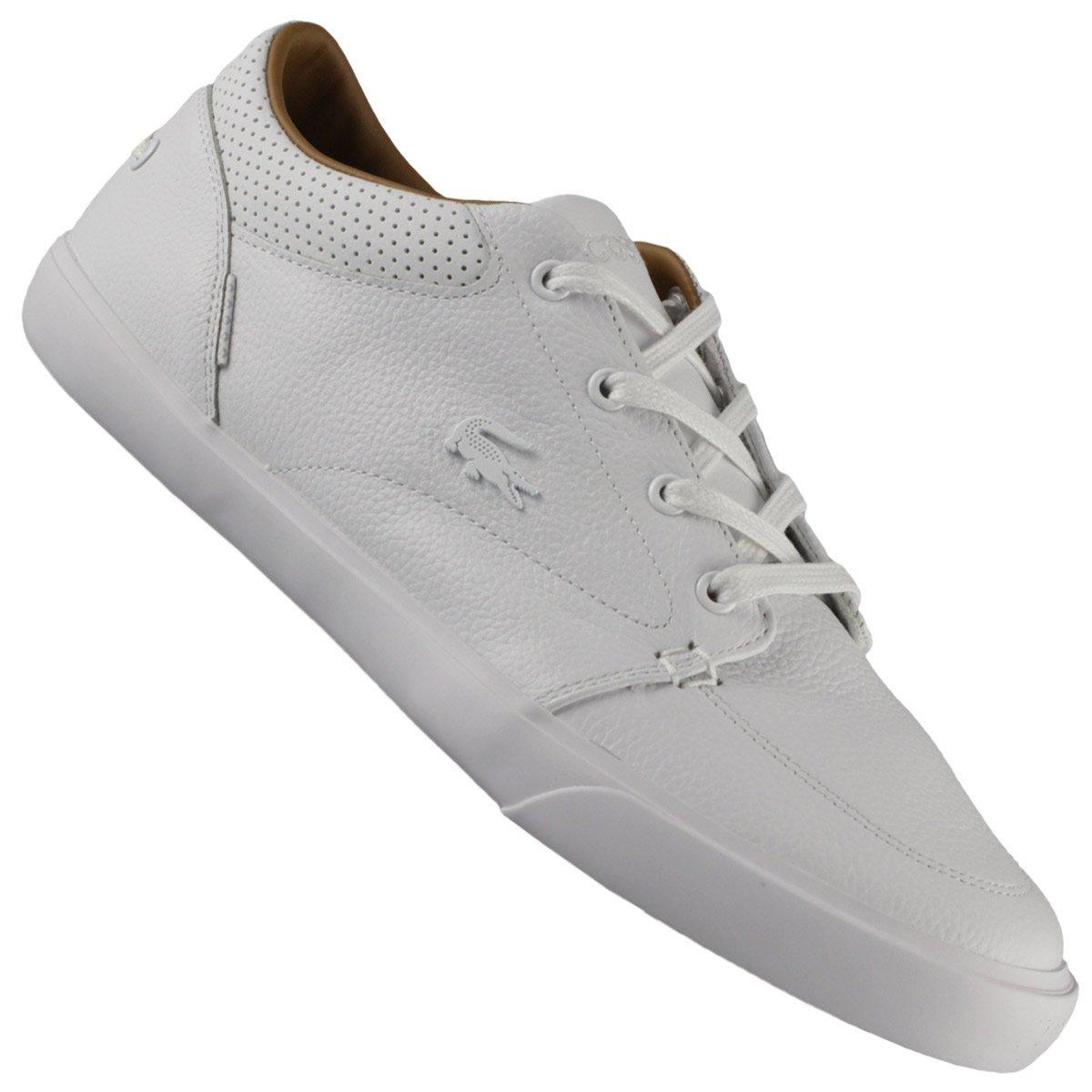 Tenis Lacoste Masculino Branco Couro Original Nf - R  449,00 em ... 0e51e91976