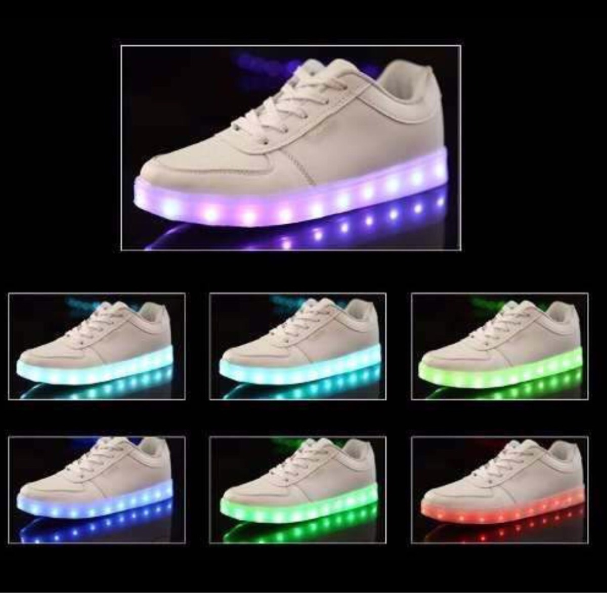Tenis led led shoes zapatos luces varios colores for Luces led colores