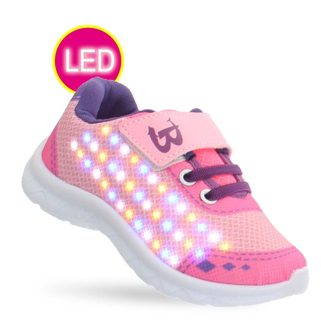 47fec7929cc71 tenis led luz rosa infantil juvenil feminino meninas brink. Carregando zoom.