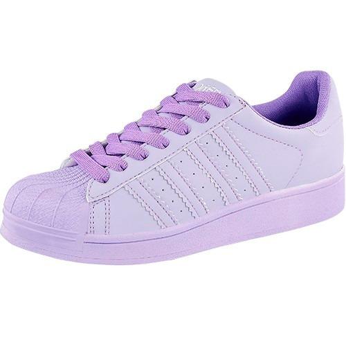 tenis lila punta reforzada, calzado moda dama envio gratis