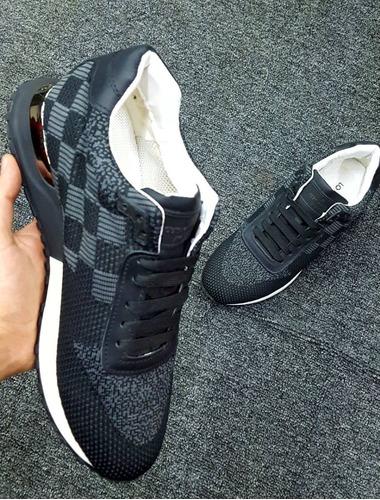 tenis lv louis vuitton run away sneakers charcoal uk7 tennis