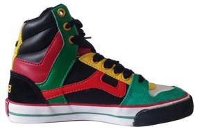820dc0df4e Tenis Mad Bull Mb 181 Alto Verde Bandeira Preto Reggae L4